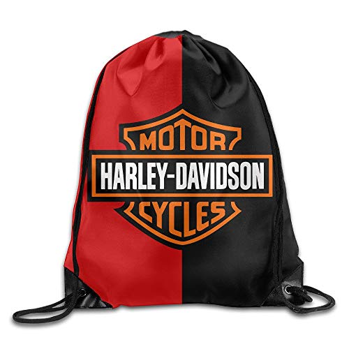 4f9088dc7a FTKLSS Lightweight Foldable Bolsa con cordón Harley Davidson Drawstring  Backpack Sack Bag/Travel Bag