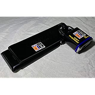 Federal Kit 730/4025 Padlock and HASP & Staple, Secure 6 pin Padlock, Tough & Weatherproof, Anti Cut, Corrosion Resistant, CEN Grade 4, 10 Year Guarantee, 2 Keys, Bolt Through Fixings Supplied