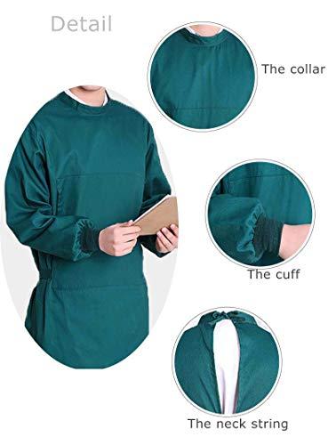 Nanxson Unisex Herren Frauen Operationskittel Lab Medizin Uniform Arbeitskleidung ME0002 (Grün, S) - 6