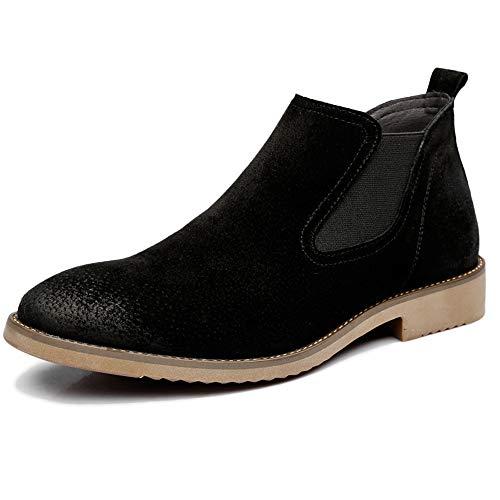 Lyqgjxw stivali in vera pelle martin per uomo abiti eleganti vintage in pelle stivaletti da lavoro scarpe da trekking da sposa scarpa in pelle,black-eu43