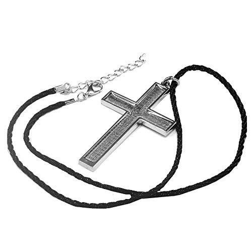 wnwl Kreuz Jesus Christian Black Rope Punk Halskette Männer Und Frauen Europäischen Und Amerikanischen Anhänger Schmuck
