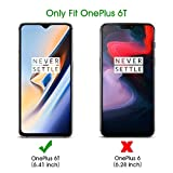 OMOTON [2 Pack Compatible for Oneplus 7/6T Screen Protector with [Easy Install Tool] [9H Hardness][Anti-Scratching][Anti-Oil][Anti-Bubbles][2.5D Round Edge]