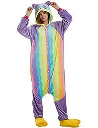2b74a11804 WYSMOL Unisex Adulto Franela Panda Pijamas de una Pieza Ropa de Dormir  Pijama Cosplay