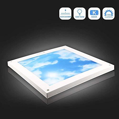 LED-Deckenplatte beleuchtet Quadrat, Dimmbar, Awenia Lighting kaltweiss ultra dünne Gitter-flache Deckenleuchte, 3 Jahre Garantie
