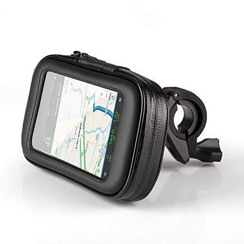 OKCS Fahrradhalterung - Lenkradhalterung mit Wasserdichter Schutzhülle Tasche Universal für Smartphones, Handy, Navi, GPS, Etc. in Größe L (Large)