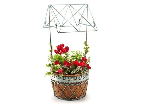 PaRURE Metal Wishing Well Greentree Pot de fleur
