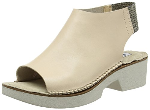 Clarks Damen Sadia Soda Offene Sandalen mit Keilabsatz Beige (Nude Leather)