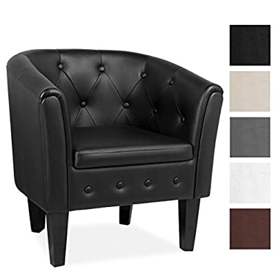 Homelux Club Cocktail Chesterfield Armchair Lounge Chair (H x W x D) 70 x 63 x 53 cm, Different Colours - cheap UK light shop.