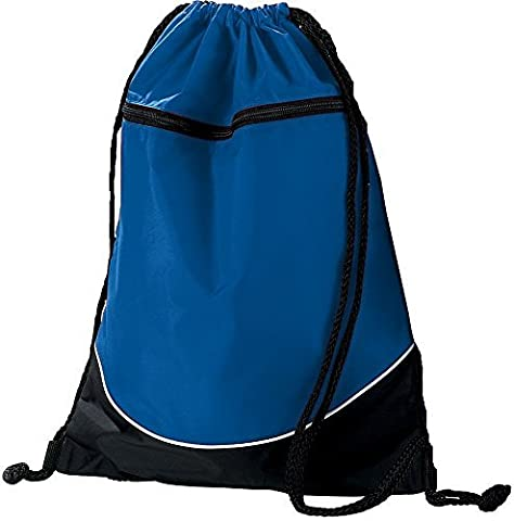 TRI-COLOR DRAWSTRING BACKPACK Augusta Sportswear OS Royal/Black/White by Augusta Sportswear