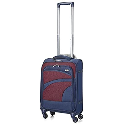Aerolite Ultra Lightweight Carry On Hand Cabin Luggage Spinner Suitcase Travel Trolley With 4 Wheels