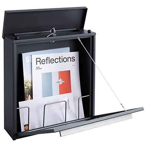 MOCAVI Box 99 Moderner Design-Briefkasten anthrazit-grau (ral 7016) mit Schloss, deutsche Markenqualität - 5