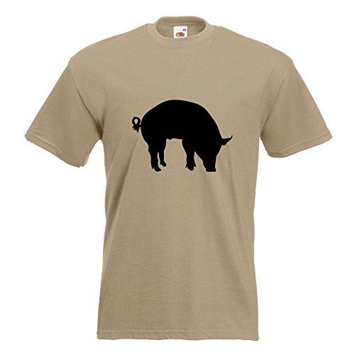 KIWISTAR - Schwein Pig Sau T-Shirt in 15 verschiedenen Farben - Herren Funshirt bedruckt Design Sprüche Spruch Motive Oberteil Baumwolle Print Größe S M L XL XXL Khaki