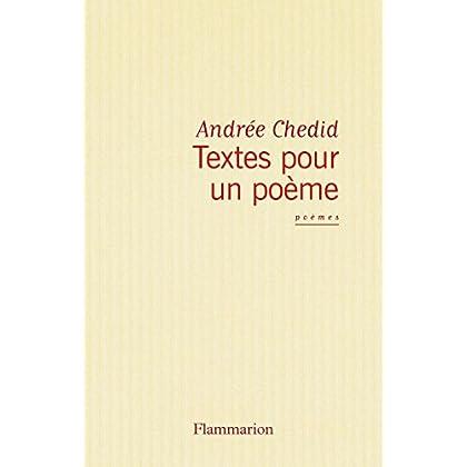 Textes pour un poème (Poésie)
