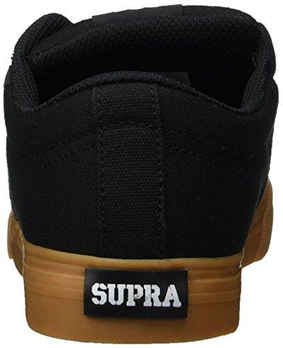 Supra Stacks Vulc Ii, chaussons d'intérieur mixte enfant Schwarz (Black/Gum)