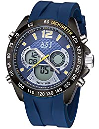 Relojes Hombre Relojes de Pulsera Militar Deportivo Impermeable Cronómetro  Día Design Multifuncion Reloj de Cuero Analógico 69f3047b816a