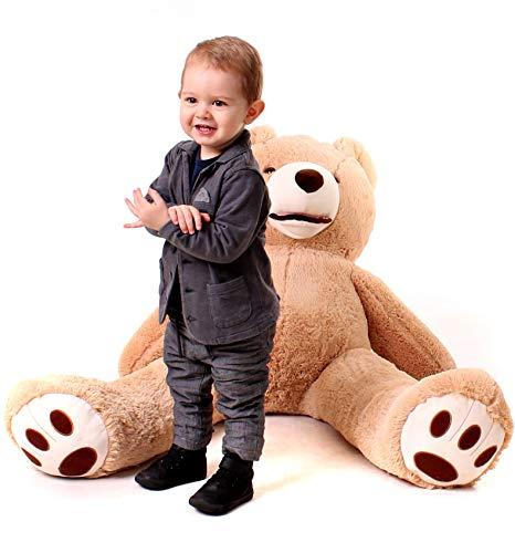Riesiger entzückender Teddybär - gefüllt, extra große Plüschtier - 100cm große M (braun)
