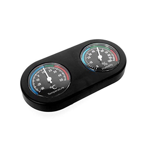 Thermometer-box (YaptheS Reptile Thermometer Hygrometer Dual-Dial Thermometer und Luftfeuchtigkeitsmesser Pet aufrichten Box-Thermometer-Hygrometer)