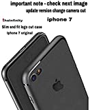 Superdealsfortheinfinity Silicon Soft Logo Cut Back Cover for iPhone 7 (Black)