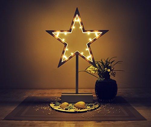 Stern Standleuchte Weihnachtsstern Stern Batteriebetrieb Weihnachtsdeko #4900