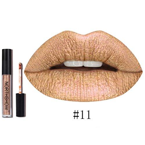 Rouge à Lèvres, Tefamore Nouveau Rouge à Lèvres Longue Durée Imperméable à L'Eau Mat Liquide Lip Gloss Lip Liner cosmétiques (11#)