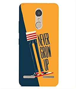 For Lenovo K6 Power -Livingfill- Illustration jeans boy Printed Designer Slim Light Weight Cover Case For Lenovo K6 Power (A Beautiful One of the Best Design with a Classic Theme & A Stylish, Trendy and Premium Appeal/Quality) (Red & Green & Black & Yellow & Other)