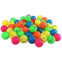 50 pelotas de colores, 27mm, varios colores mezclados