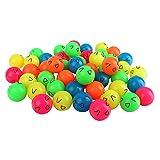 Schramm® 50er Pack Flummi Smiley 27mm Flummis Springball Hüpfball Mitgebsel Tombola Kindergeburtstag