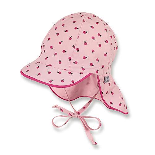 Sterntaler Schirmmütze für Mädchen mit Bindebändern und Nackenschutz, Alter: 6-9 Monate, Größe: 45, Rosa (Mandelblüte)