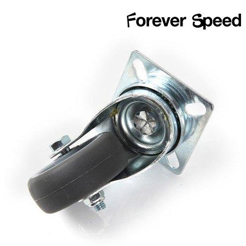 Forever Speed Lote de 8 Ruedas Pivotantes Ruedas Giratorias de Transporte para Carritos Muebles /Ø 50mm Soportan 40 kg por rollo