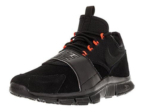Nike  Free Ace Lthr, chaussures de football homme Schwarz