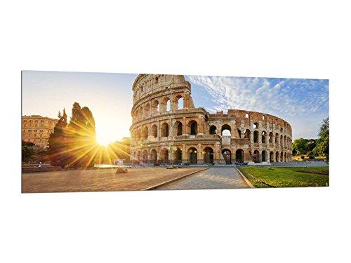 Glasbilder Wandbilder 125 x 50cm Rom Kolosseum Italy AG312502391 / Deco Glass, Design & Handmade / Eyecatcher, Kunstdruck!