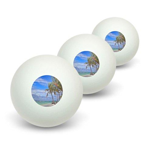 Preisvergleich Produktbild Tropical Beach-Insel Himmel Wolken Urlaub Neuheit Tisch Tennis Ping Pong Ball 3Pack