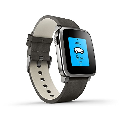 Pebble Time Steel Smartwatch – Black