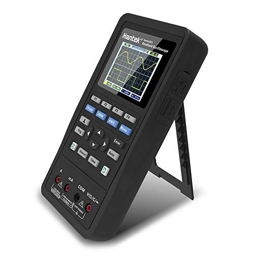 Hengyuanyi 3 en 1 Osciloscopio Digital de Mano Fuente de señal Hantek 2C42 Handheld 40 MHz Ancho de Banda 2 en 1 osciloscopio multímetro Tester
