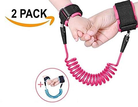 anti-perte poignet, Leshp Bar804ep Safety Wrist Link poignet réglable Lien Ceinture à la main de marche pour enfants Kids Marche–Lot de 2