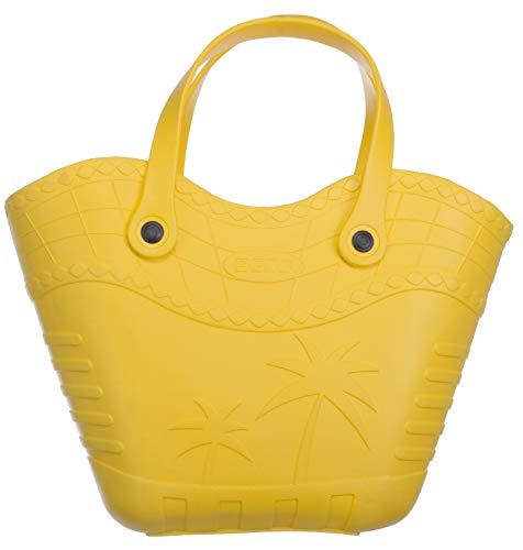 Brandsseller Handtasche Strandtasche Einkaufstasche aus Kunststoff Größe: ca.36x23x12 cm - Farbe: Gelb