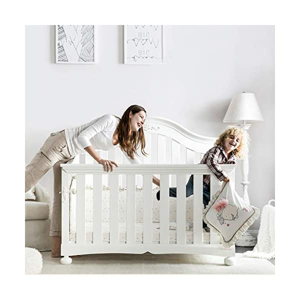 DUWEN-Cot bed Solid Wood Multifunctional Baby Cot European Toddler Bed Game Bed Sofa Bed Children's Bed (color : White) DUWEN-Cot bed 1. Multi-functional crib is the best gift for your baby. It not only can make your baby have a better sleep experience, but also cultivate your baby's independent consciousness and exercise your baby's hand and foot coordination ability. It is your best choice. 2. The multi-functional crib is made of environmentally friendly pine wood, which is tough and durable, not easy to crack and deform, and has a bearing capacity of over 120KG. 3. The crib is safe and environmentally friendly, non-irritating, harmless to the baby, mother can buy with confidence 5