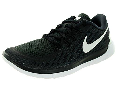 Nike Free 5.0 (GS) Kids Running Shoes - Black/Darkgrey (Kids Nike Free Schuhe Black)