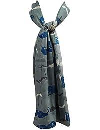 La bufanda del algodón de la India Mujeres Moda Summer Wear Bufanda Pañuelo Tamaño de rectángulo de 62 x 27 pulgadas