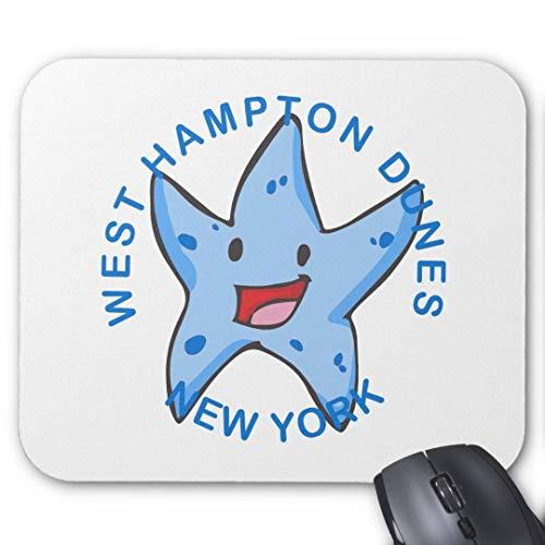 Mauspad, rutschfest, rechteckig, für Computer/Laptop, 20 x 24 cm, New York West Hampton Dünen -