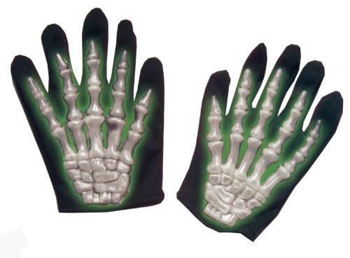 kelett Handschuhe für Kinder, fluoreszierend (Kinder-skelett-kostüme)