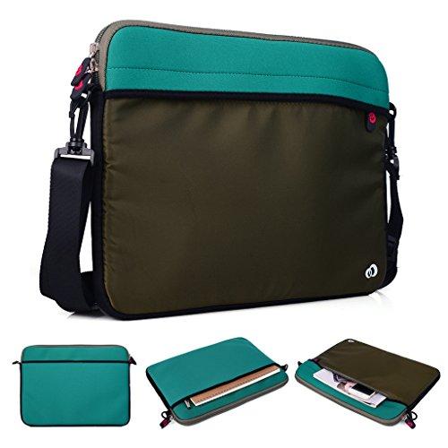 Kroo Tablet/Laptop Hülle Sleeve Case mit Schultergurt für Dell Latitude 12E5250 grün grün