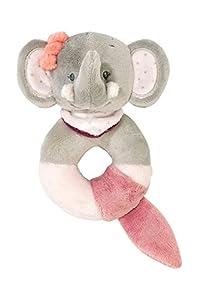 Nattou- Adèle & Valentine NA424189-Alfombras de Juego y gimnasios, Color sonajero de peluche elefante adèle (424189)
