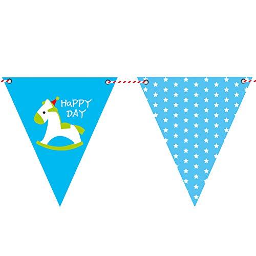 Aisoway Papier Trojan Muster Bunting Banner Wimpel Hanging Flagge Foto Prop Geburtstag Garlands Dekorationen Party Supplies-Partei-Dekoration-Pool-Party Für Kinder Erwachsene