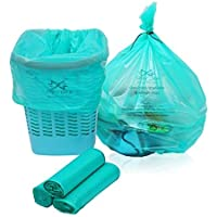 Peiroks Garbage Bags Biodegradable For Kitchen,Office,Small Size (43cmx51cm/17 Inch x 20 Inch,90 Bag) (Green)