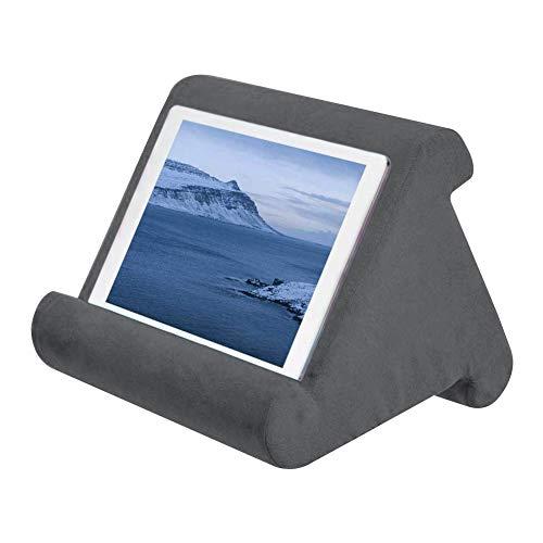 Cokeymove Support Universel pour Tablette pour Tablette iPad,Support pour Coussins Souples Multi-Angles pour lecteurs de Livres électroniques,Smartphones Livres,Magazines (Gris foncé)