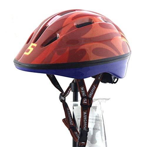 LHY SPORTS SERLES Kinder Skateboard Skates Fahrradhelm,Kinder Roller Inline Sport-Schutzausrüstung Helm,Red
