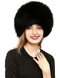 LIUONEXI Damen Winter Mütze Fellmütze Pelzmütze Fuchs Pelz Warm Weich Damenmütze Fliegermütze Cap Hut