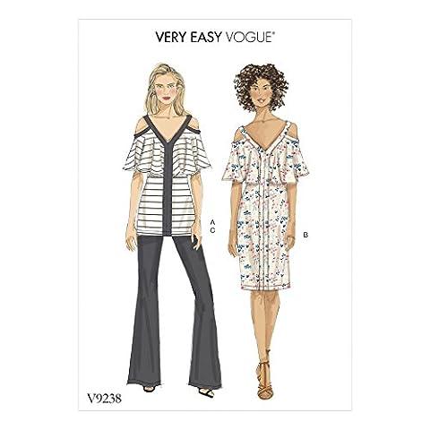 Vogue femmes Patron de couture facile 9238froid épaule Top & Robe et pantalon