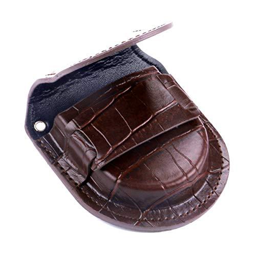 Gürteltasche und Aufbewahrungs-Etui für Taschenuhren Roy Coopers Croco braun